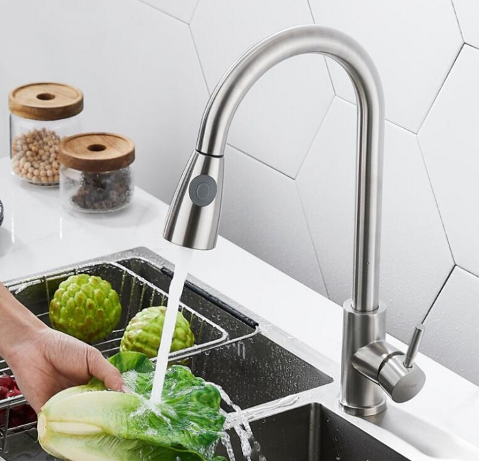 洗菜盆水龙头 厨房水龙头 不锈钢抽拉水龙头